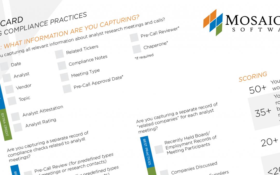 Analyst Meetings Compliance Scorecard